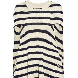 Junya watanbe knitted striped cape dress Small